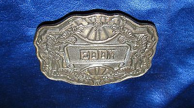 Vintage Oden Inc. Belt Buckle With Eddy On it Great Shape!!!
