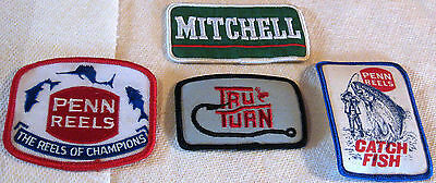 4 Pak Embroidered Fishing Patches