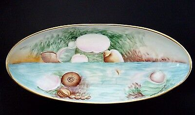 Antique UNO Favorite Bavaria 1921 Decorative Sea Shell Painted Dish Signed