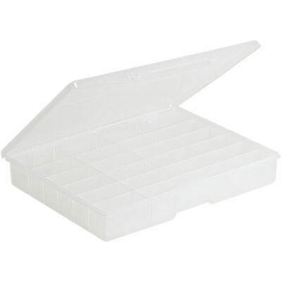 PLANO MOLDIN Polypropylene Compartment Box,24 Compartments,Clear, 5324-30, Clear