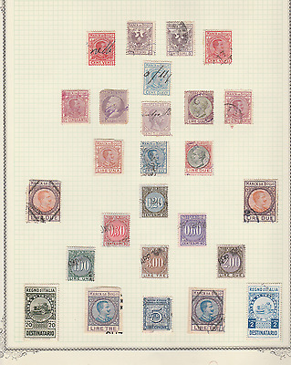 Italy Very Old Revenues Local Issues Cinderellas Mint Used Lot Of 26 Stamps