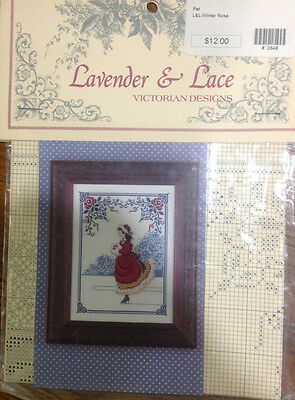 Counted Cross Stitch Chart by Lavender & Lace-Winter Rose-Lot 71