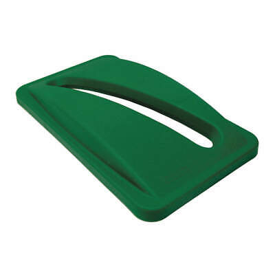 RUBBERMAID Paper Slot Recycling Top,Plastic,Green, FG270388GRN, Green