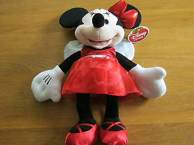 Minnie Mouse 2012 Christmas themed soft toy from the Disney Store