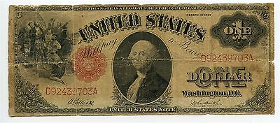 1917 $1 Legal Tender Elliot Burke US Dollar Large Size Note AA0515