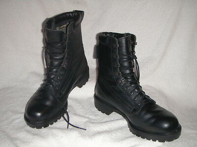 Combat Gore-Tex Military mens boots Very Good cond. Leather Black UK 9M EU 43