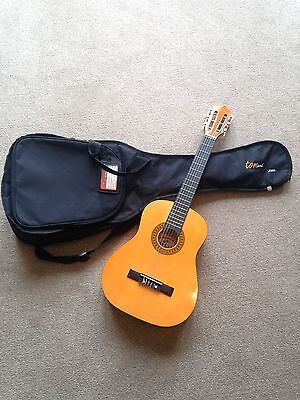 Junior Acoustic Guitar HALF SIZE PL12 by Palma Complete With Carry Case