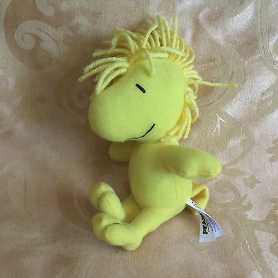 """Snoopy Peanuts Woodstock 6"""" Yellow Plush Stuffed Animal Doll by Galerie VGUC"""