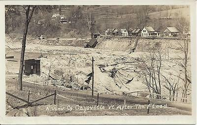 A View Of Gaysville,vt. After The Nov.4,1927 Flood,real Photo,footbridge Gone