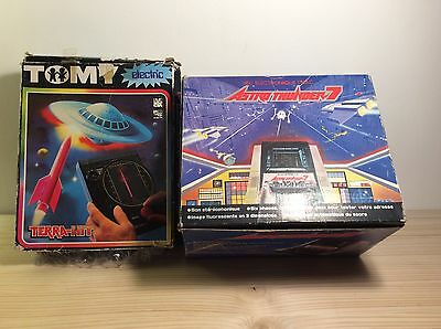 JEUX ELECTRONIQUE Astro Thunder 7 et Terra-Hit TOMY, Game Watch...