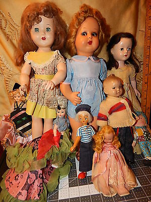 Hard plastic and composition 1950 too1960's doll lot