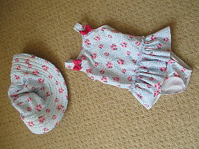 BABY GIRLS SWIMMING COSTUME 12-18 MTHS by NUTMEG