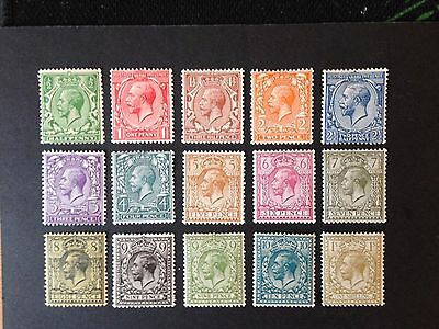 GB King George V, mounted mint set, Royal Cypher watermark