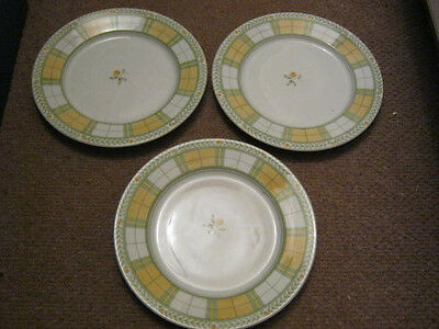 Marks And Spencer Yellow Rose Dessert Plates X 4