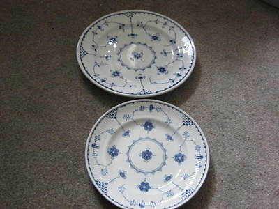 Furnivals Denmark Blue  Plates - 24Cm And 20Cm