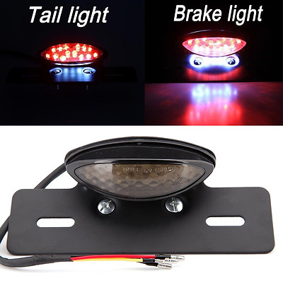 Motorcycle Red Led Rear Tail Brake License Plate light for Chopper Cruiser Atvs