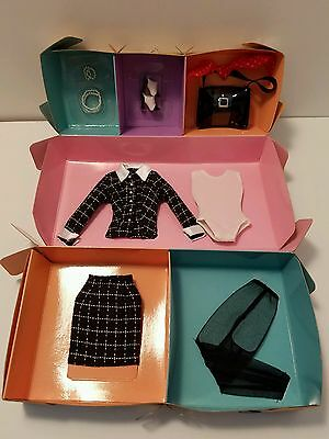 Barbie Fashion Silkstone Black and White Tweed Suit With Accessories