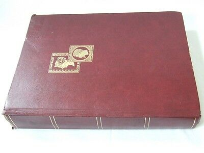 Maroon A4 32 White Pages Stamp Stockbook, Good Condition