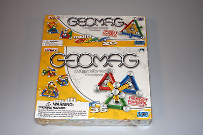 Geomag Multi-Color 35 & 20 Dual Pack Magnetic Construction Toy NEW
