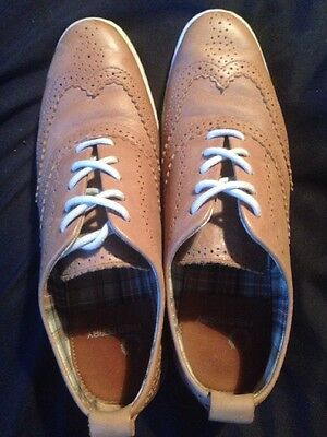 Fred Perry Brogues Size 4 Shoes Leather Brown