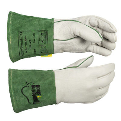 WELDAS ThunderingBison, Hand Bison Leather, TIG Welding Gloves, HIGH QUALITY