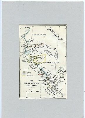 Weeda Literature: The West Africa Settlements coloured map, Harrison & Sons
