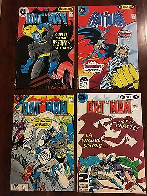 Lot of 4 rare Batman French editions! Deadshot Catwoman Joker covers 1983