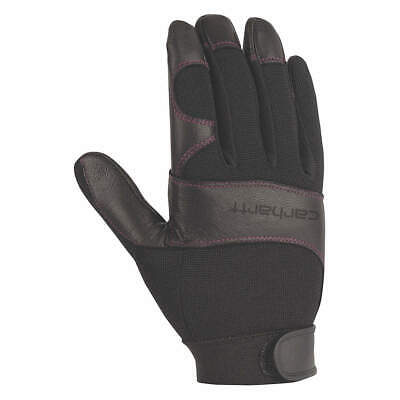 CAR Mechanics Gloves,Women's M,Black/Rose,PR, WA659-BLKRST, Black/Rose Stitching