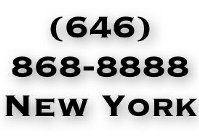 Vanity Phone Number: (646) 868-8888 - New York City