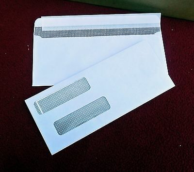 500 Security Double Window business Envelopes 8 3/4 X 3 5/8 For checks