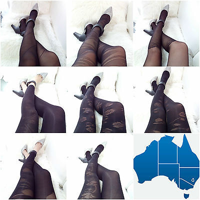 Women Fashion Jacquard Fishnet Pantyhose Tights Pattern Stockings Waist High