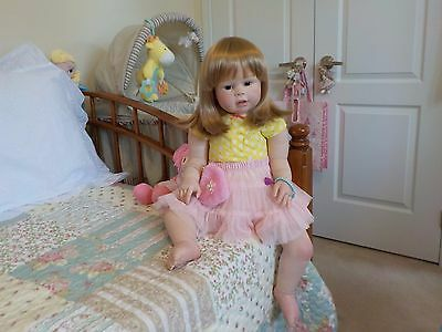 """Chubby 28 """" Reborn Toddler Girl Peggy by Regina Swialkowski: Lots of Outfits!!"""