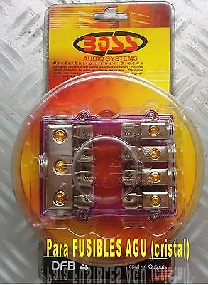 Distribuidor Positivo Car Audio Boss Audio Dfb-4 Fusibles Agu