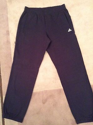 Adidas Men's Soft Trackie Bottoms Track Pants - Size M - Navy Blue - BNWOT