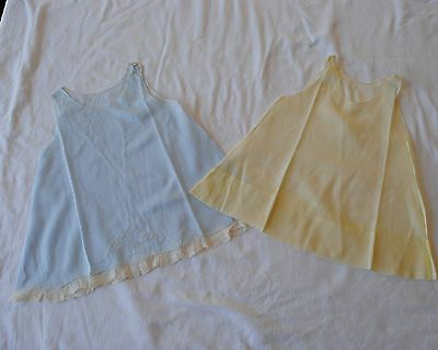 Lot of 2 Vintage 1950s Baby Dresses Hand Made in Philippines 6 Mos.