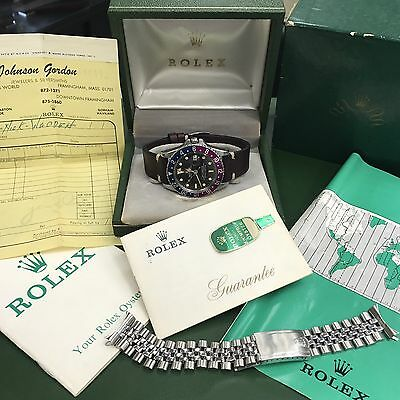 Vintage Rolex 1675 GMT Master Pepsi untouched 1969's box, paper and invoice Full