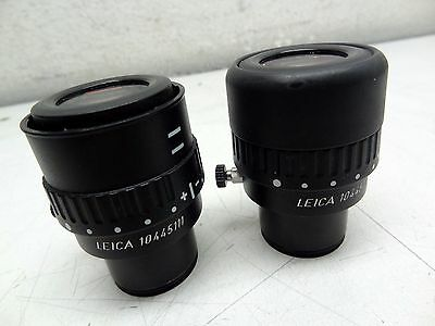 Pair of Leica 10445111 Microscope 10x/21B Eyepiece Objectives 30mm Barrels