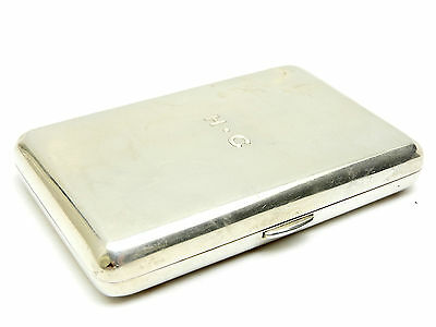 Napier Antique Sterling Silver Cigarette Case Gold Wash Inside