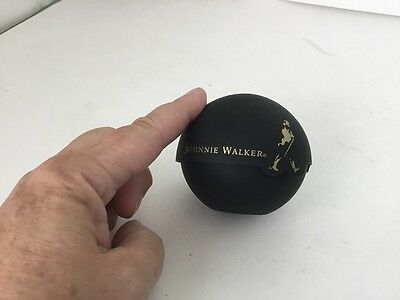 2 Pc Johnnie Walker Whiskey Promo Ice Ball Mold Maker Mould Black #36-84A