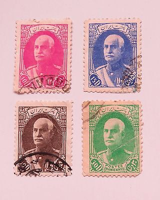 1938 Reza Shah Pahlavi used stamps