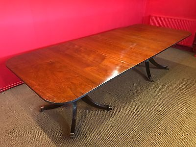Magnificent Grand Regency Style Mahogany Dining Table Pro French Polished