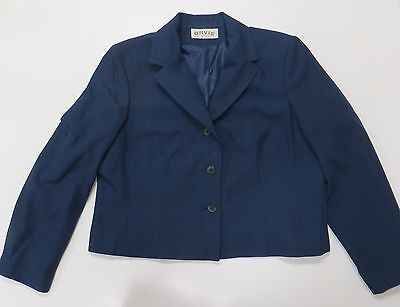 ORVIS WOMENS BLAZER JACKET 16P Blue Lined 3 Button