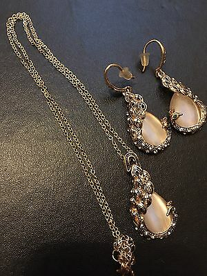 Fashion Charm Chunky Crystal Statement Chain Choker Earrings SetJewelry Necklace