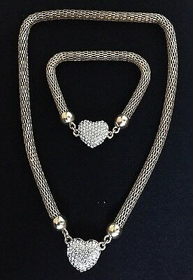 Fashion Charm Chunky Crystal Statement Chain Choker SetJewelry Necklace