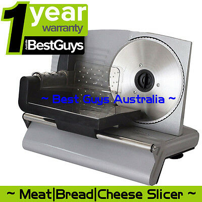 Food Meat Slicer Electric Deli Cutter Cheese Fruit Vegetables Bread Cutter 200W