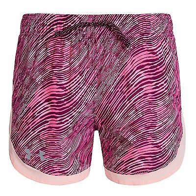 Under Armour HeatGear Beet Novelty Youth Girls Crush Print Active Shorts