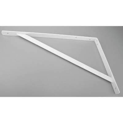 JOHN STERLING Steel Heavy Duty Shelf Bracket,White,500 Lb, 0049-20WTH, White