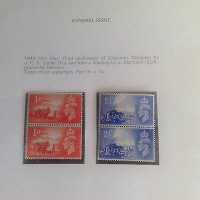Channel Islands stamps from 1948