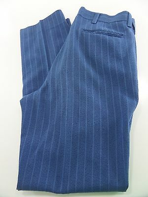 True Vintage Farah Blue Stripe Pants Mens Size 32