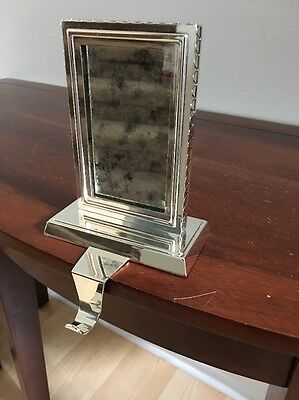 POTTERY BARN ~Mirror Stocking Holder~Rectangular Antique Silver Finish ~ 4 Avail